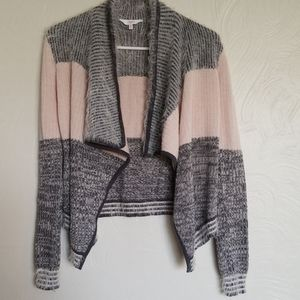 Candies XS pink and gray sweater cardigan